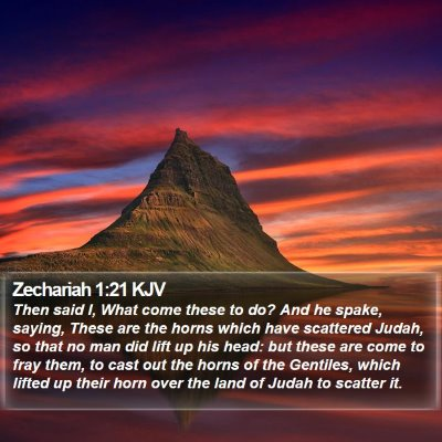 Zechariah 1:21 KJV Bible Verse Image