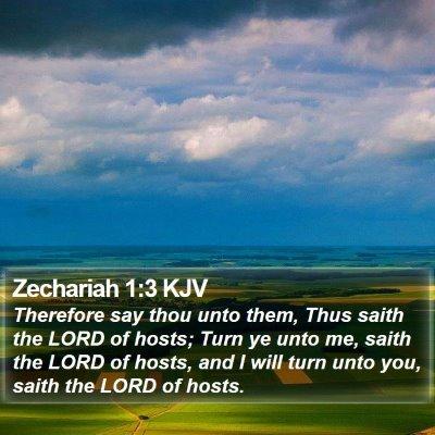 Zechariah 1:3 KJV Bible Verse Image
