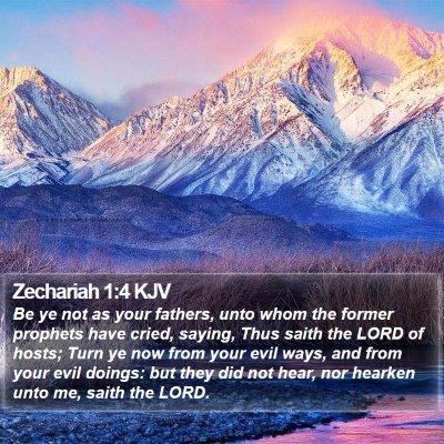 Zechariah 1:4 KJV Bible Verse Image
