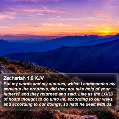 Zechariah 1:6 KJV Bible Verse Image