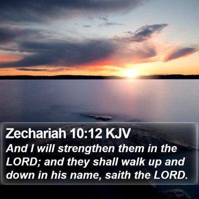Zechariah 10:12 KJV Bible Verse Image