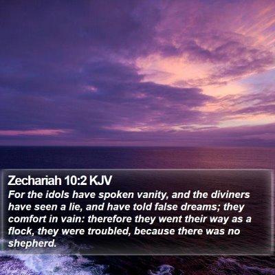 Zechariah 10:2 KJV Bible Verse Image