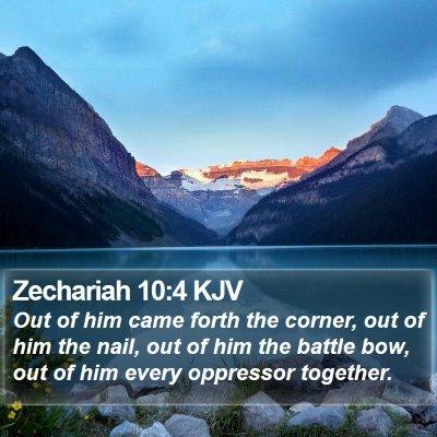 Zechariah 10:4 KJV Bible Verse Image