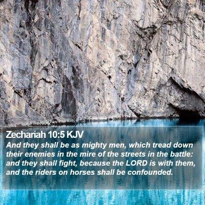 Zechariah 10:5 KJV Bible Verse Image