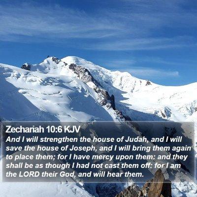 Zechariah 10:6 KJV Bible Verse Image