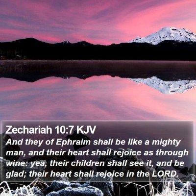 Zechariah 10:7 KJV Bible Verse Image