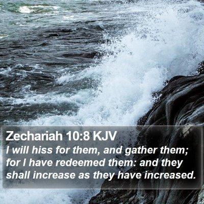 Zechariah 10:8 KJV Bible Verse Image