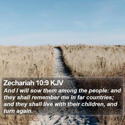 Zechariah 10:9 KJV Bible Verse Image