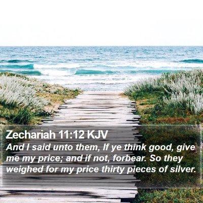Zechariah 11:12 KJV Bible Verse Image