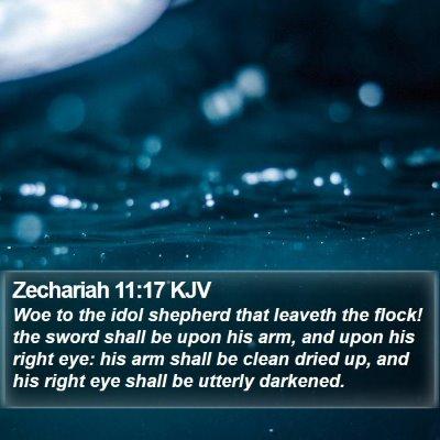 Zechariah 11:17 KJV Bible Verse Image