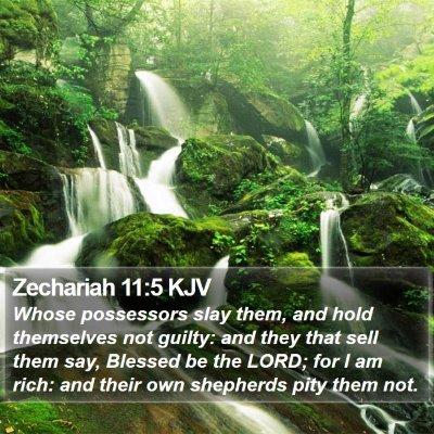 Zechariah 11:5 KJV Bible Verse Image