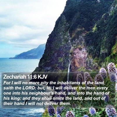 Zechariah 11:6 KJV Bible Verse Image