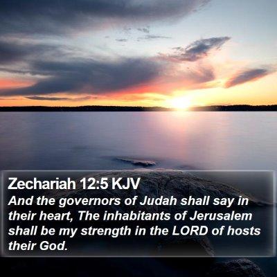 Zechariah 12:5 KJV Bible Verse Image
