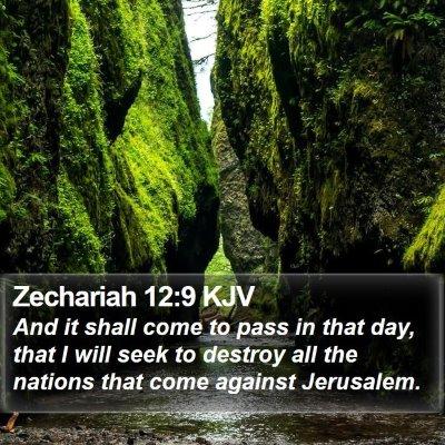 Zechariah 12:9 KJV Bible Verse Image