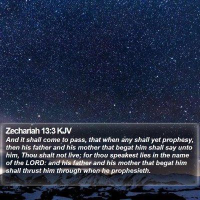 Zechariah 13:3 KJV Bible Verse Image