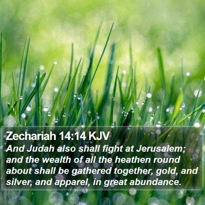 Zechariah 14:14 KJV Bible Verse Image