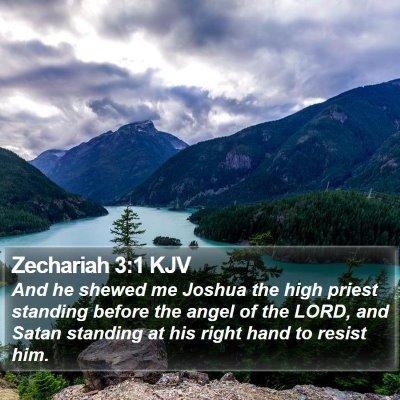 Zechariah 3:1 KJV Bible Verse Image