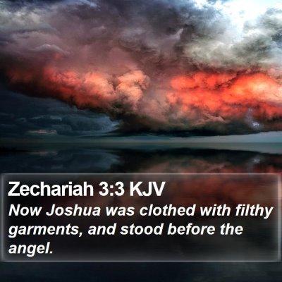 Zechariah 3:3 KJV Bible Verse Image