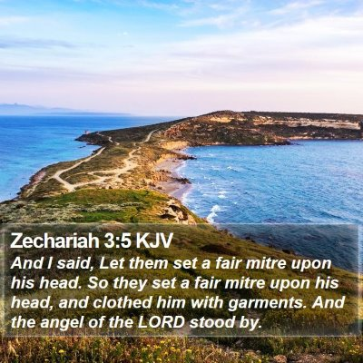 Zechariah 3:5 KJV Bible Verse Image