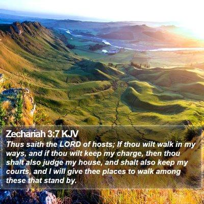 Zechariah 3:7 KJV Bible Verse Image