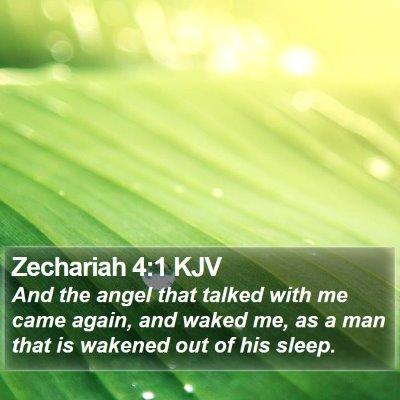 Zechariah 4:1 KJV Bible Verse Image