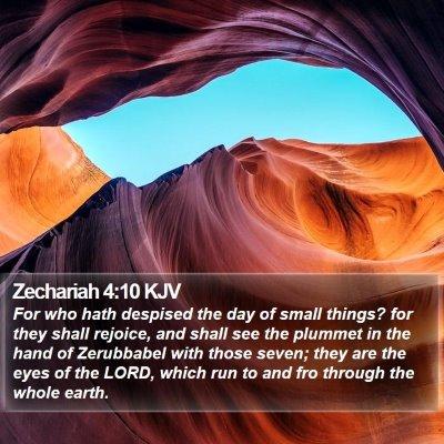 Zechariah 4:10 KJV Bible Verse Image