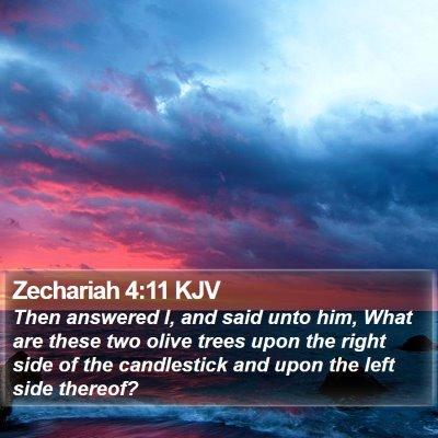 Zechariah 4:11 KJV Bible Verse Image