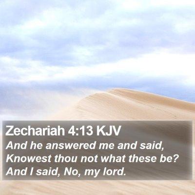 Zechariah 4:13 KJV Bible Verse Image