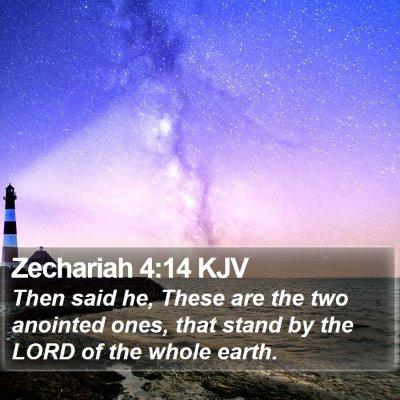 Zechariah 4:14 KJV Bible Verse Image