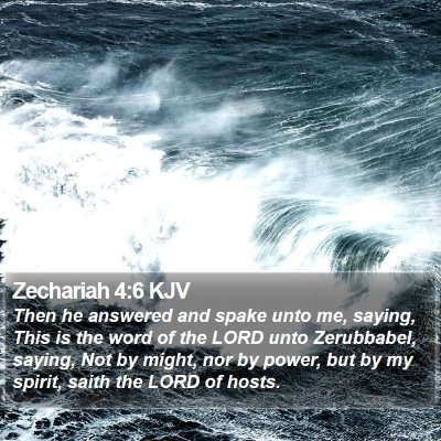 Zechariah 4:6 KJV Bible Verse Image