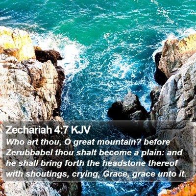 Zechariah 4:7 KJV Bible Verse Image