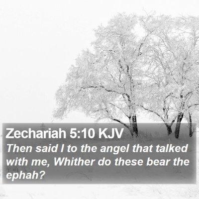 Zechariah 5:10 KJV Bible Verse Image