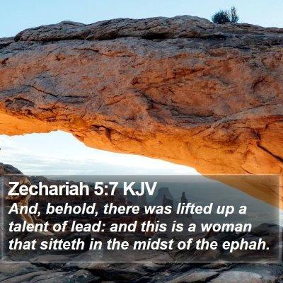 Zechariah 5:7 KJV Bible Verse Image