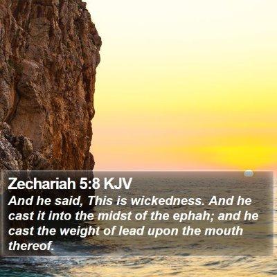 Zechariah 5:8 KJV Bible Verse Image