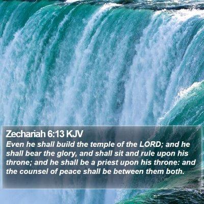 Zechariah 6:13 KJV Bible Verse Image