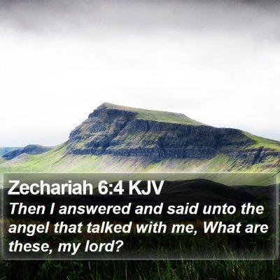 Zechariah 6:4 KJV Bible Verse Image