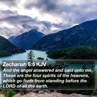 Zechariah 6:5 KJV Bible Verse Image