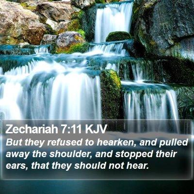 Zechariah 7:11 KJV Bible Verse Image