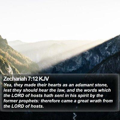 Zechariah 7:12 KJV Bible Verse Image