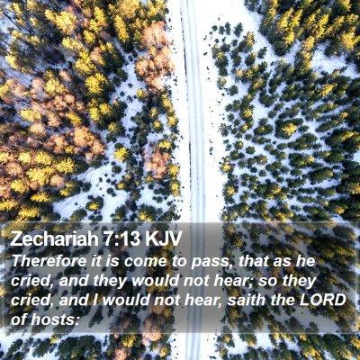Zechariah 7:13 KJV Bible Verse Image