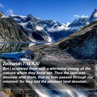 Zechariah 7:14 KJV Bible Verse Image