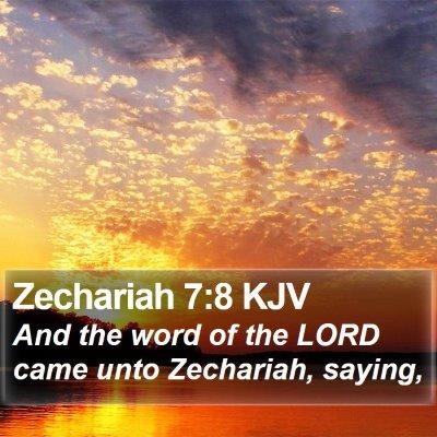 Zechariah 7:8 KJV Bible Verse Image
