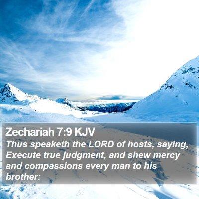 Zechariah 7:9 KJV Bible Verse Image