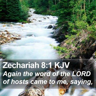 Zechariah 8:1 KJV Bible Verse Image