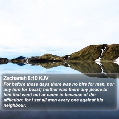 Zechariah 8:10 KJV Bible Verse Image