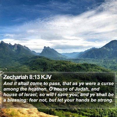 Zechariah 8:13 KJV Bible Verse Image