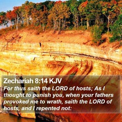 Zechariah 8:14 KJV Bible Verse Image