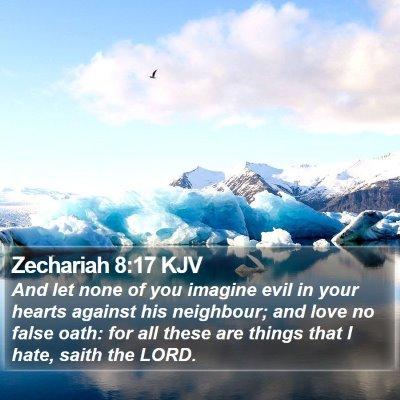Zechariah 8:17 KJV Bible Verse Image
