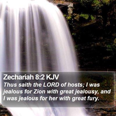 Zechariah 8:2 KJV Bible Verse Image