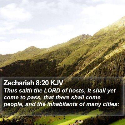 Zechariah 8:20 KJV Bible Verse Image